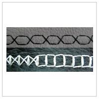 Ścieg ozdobny tapicerski, z maszyny SAKURA 8850