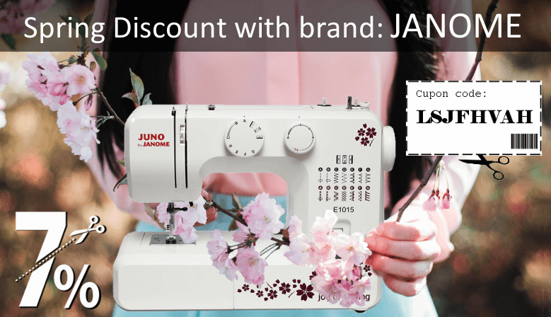 7% Discount for Domestic Sewing Machines