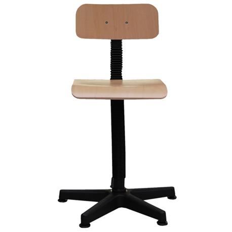 Swivel plywood chair with a screw