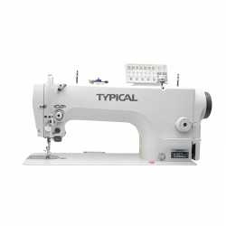 Typical GC6760-HD3 Direct-drive lockstitch sewing machine with double feed (drop and needle)