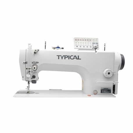 Typical GC6760-MD3 Direct-drive lockstitch sewing machine with double feed (drop and needle)